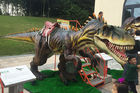Rain Proof Animatronic Dinosaur Ride With Soft Silicone Rubber Skin For Park